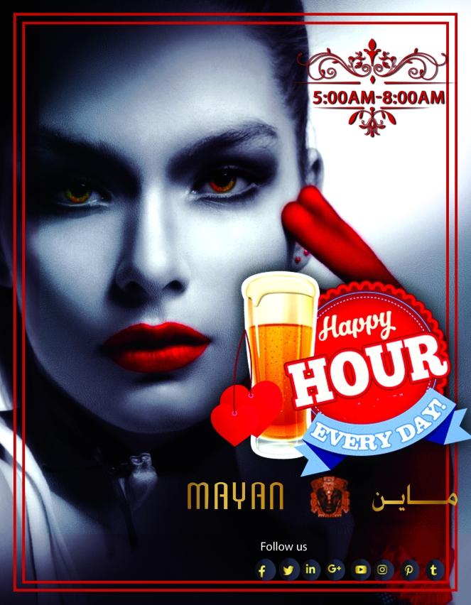 mayan happy hour