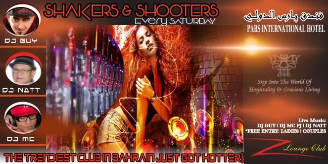 SHAKERS AND SHOOTER SATURDAY